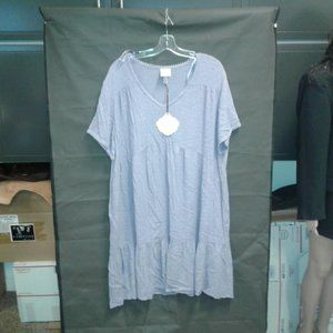 Women's Short Sleeve Clip Dot Dress - Knox Rose